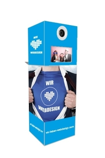 Fotobox wir lieben Webdesign Firmenevent